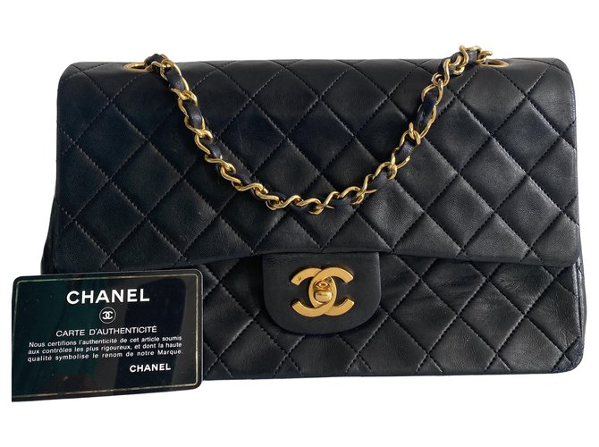 Chanel Timeless Black Leather  ref.312408