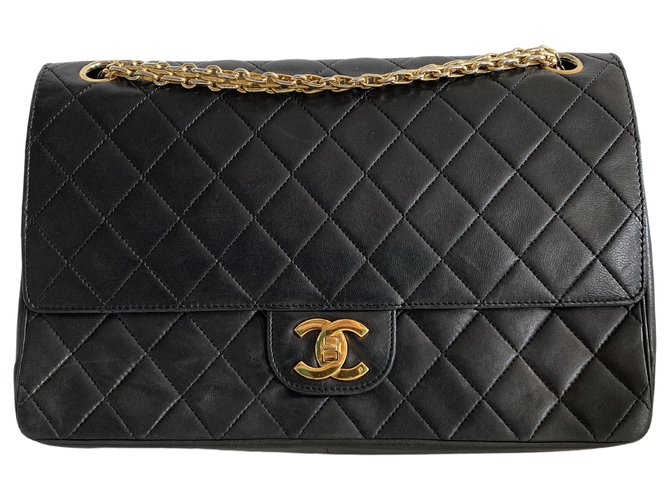 Chanel Classic Flap Black Leather  ref.312470