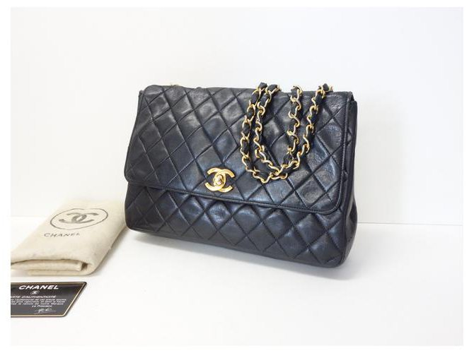 Chanel Classic Flap Black Leather  ref.312476
