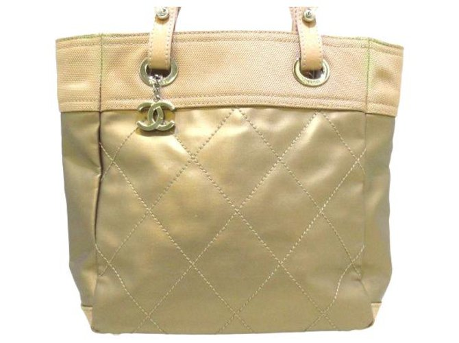 Chanel tote bag Beige Synthetic  ref.312578