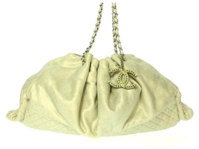 Chanel tote bag Cream Cotton  ref.312581
