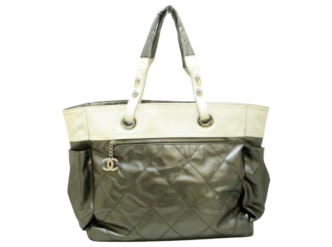 Chanel tote bag Grey Synthetic  ref.312590