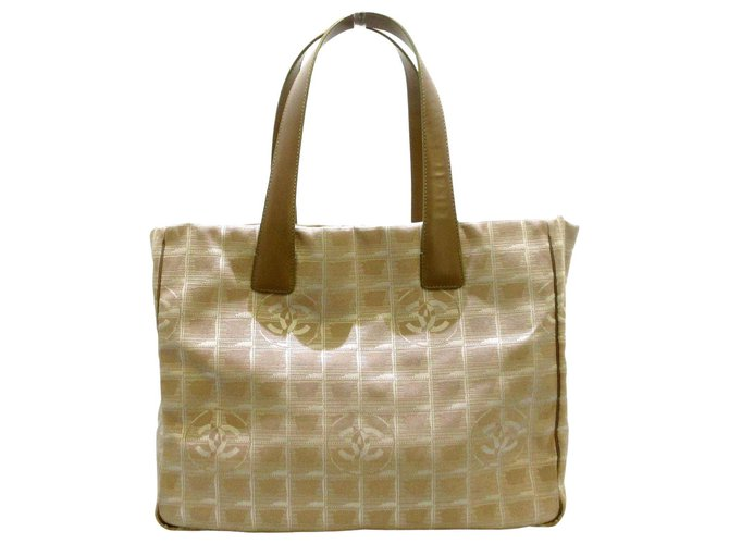 Chanel tote bag Beige Synthetic  ref.312598
