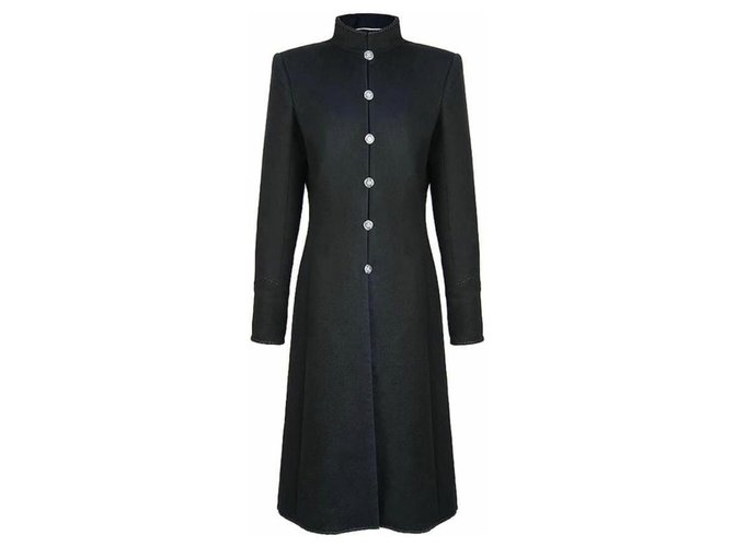 Chanel 8K$ Paris-Shanghai coat Black Cashmere  ref.312618