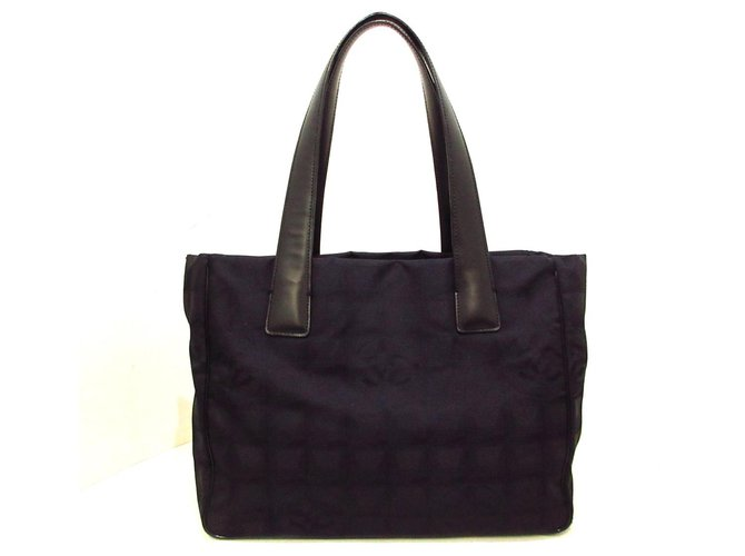 Chanel tote bag Black Synthetic  ref.313468