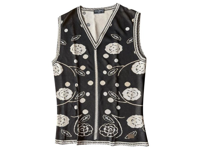 Chanel sleeveless sweater Viscose  ref.314206