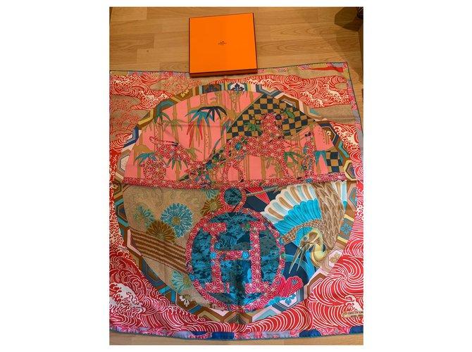 Hermès Ex Libris in Kimono Multiple colors Silk  ref.314240