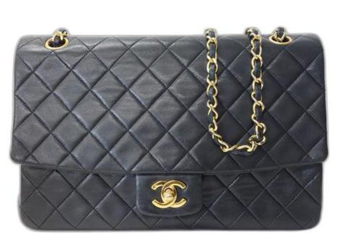 Chanel Classic Flap Black Leather  ref.316291