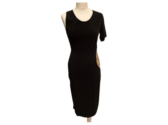 Alexander McQueen jewel dress Black Rayon  ref.319329