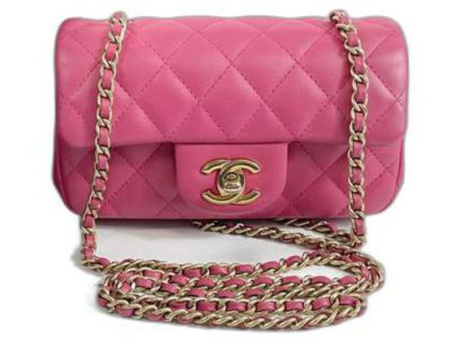 Chanel Classic Flap Pink Leather  ref.319495