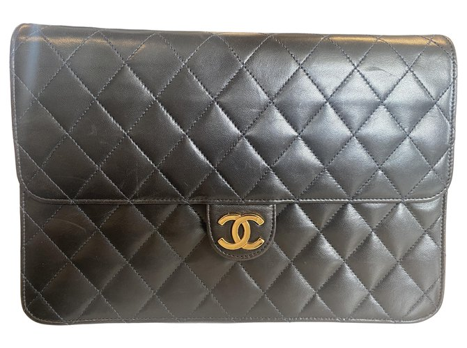 Chanel Classic Flap Black Leather  ref.319514
