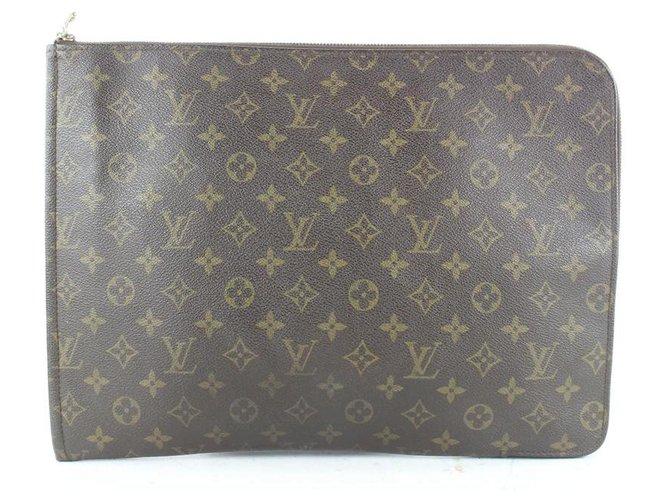 Louis Vuitton Monogram Pochette Documents Zip Pouch  ref.322567