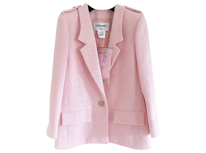 Chanel 6,8K$ Rare SEOUL Cruise Jacket Pink Tweed  ref.323009