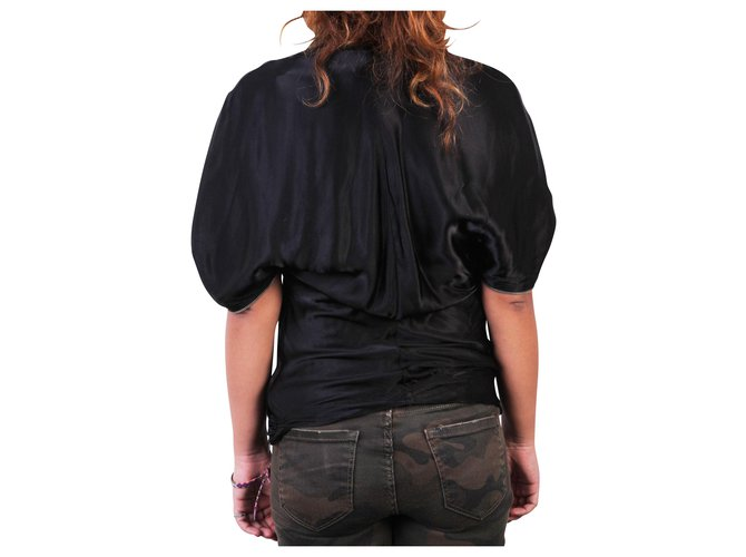 Hussein Chalayan Black Top with Zip  ref.324193