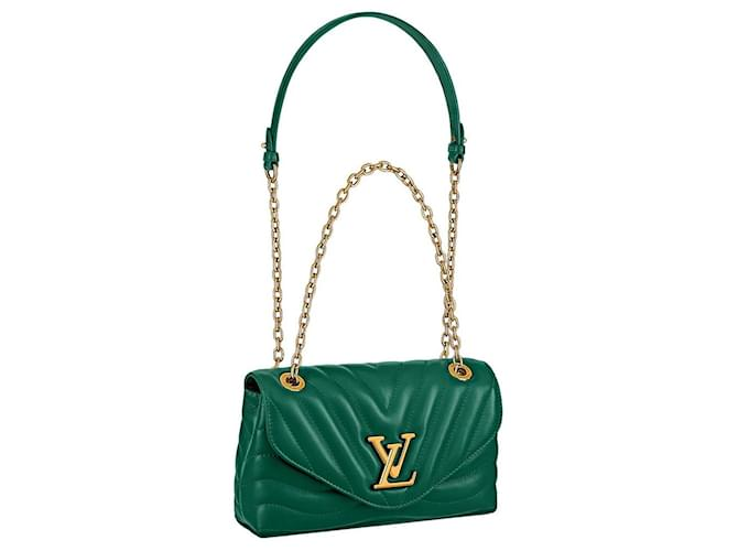 Louis Vuitton New Wave Purse Green Leather  ref.330975
