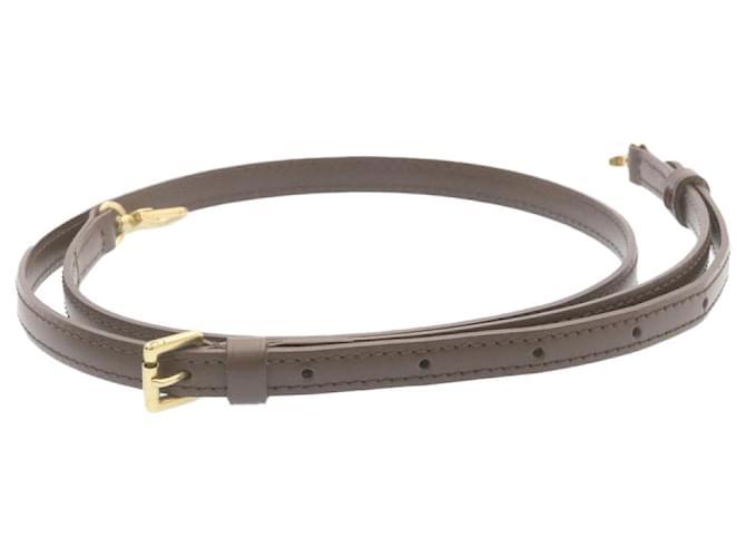 """Bandoulière réglable en cuir LOUIS VUITTON 39.4""""-46.5"""" Marron LV Auth 23980  ref.334687"""