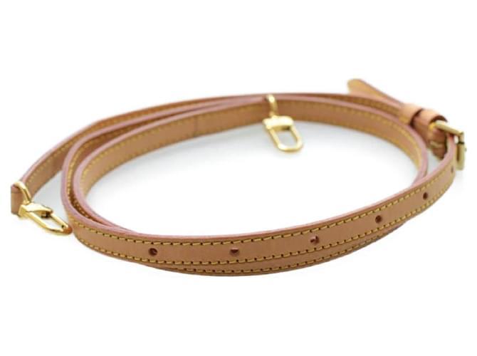Bandoulière ajustable en cuir LOUIS VUITTON 117-135cm LV Auth 13555 Beige  ref.335779