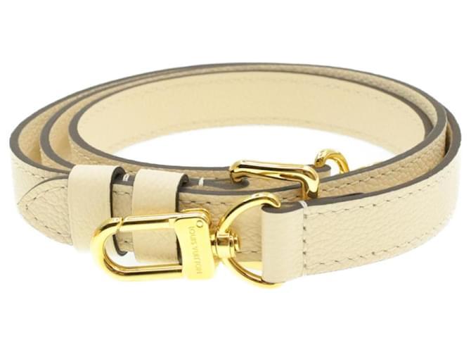 Bandoulière ajustable en cuir LOUIS VUITTON 103-113cm Blanc LV Auth 14528  ref.335808
