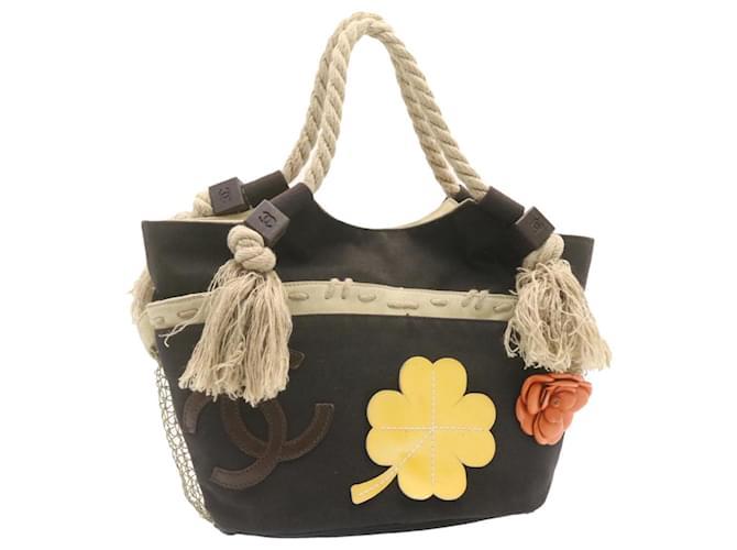 CHANEL Canvas Tote Bag Beige CC Auth 22748 Cloth  ref.335902