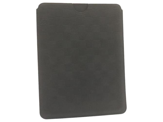LOUIS VUITTON Damier infini Housse Souple iPad Noir N63104 LV Auth e1391 Cuir  ref.336228