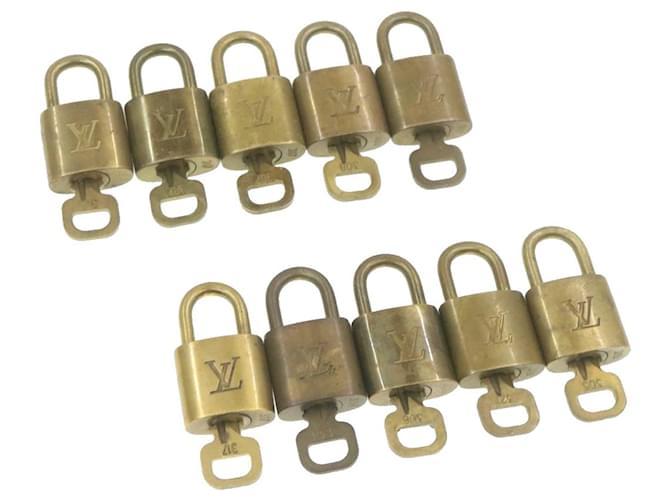 cadenas Louis Vuitton 10set Gold Tone LV Auth gt519 Doré  ref.336390