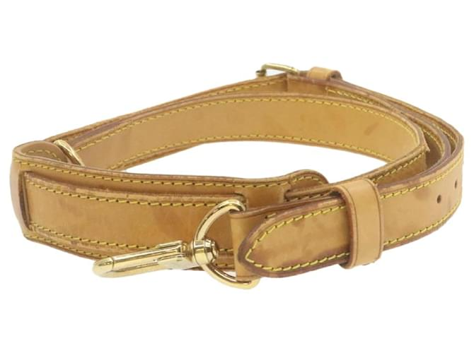 Keepall Sac à bandoulière réglable en cuir LOUIS VUITTON 103-121cm LV Auth ar3909 Toile Beige  ref.336513