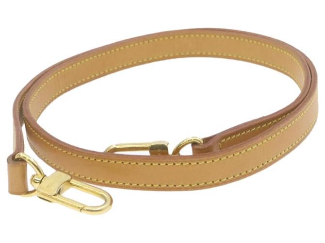 Bandoulière en cuir Louis Vuitton 100cm LV Auth gt785 Beige  ref.336651