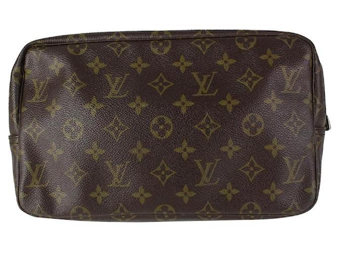 Louis Vuitton Monogram Trousse Toilette 28 Cosmetic Pouch Make up Bag 15LV719  ref.337732