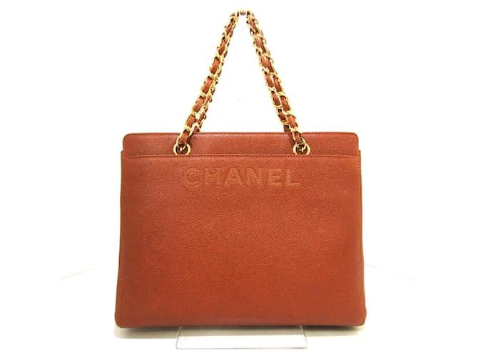 Chanel handbag Brown Leather  ref.339143