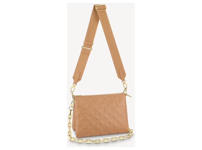 Louis Vuitton LV Coussin Camel colour new Cream Leather  ref.339884