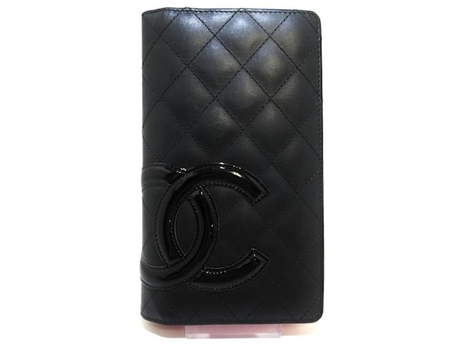 Chanel Cambon Black Leather  ref.343165