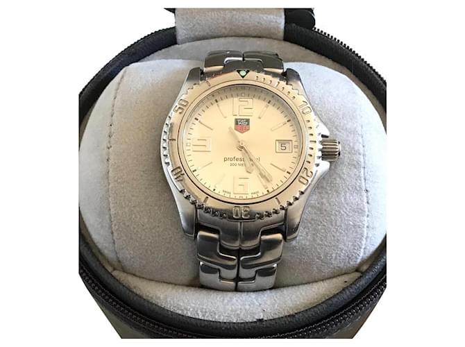 Tag Heuer WT 12/12  sapphire crystal Silvery Steel  ref.343295