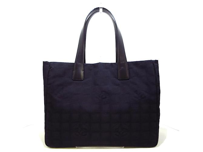 Chanel tote bag Black Cloth  ref.345610