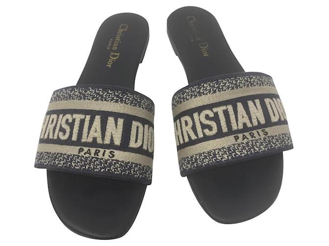 Christian Dior Dway Dior Blue Leather  ref.346122