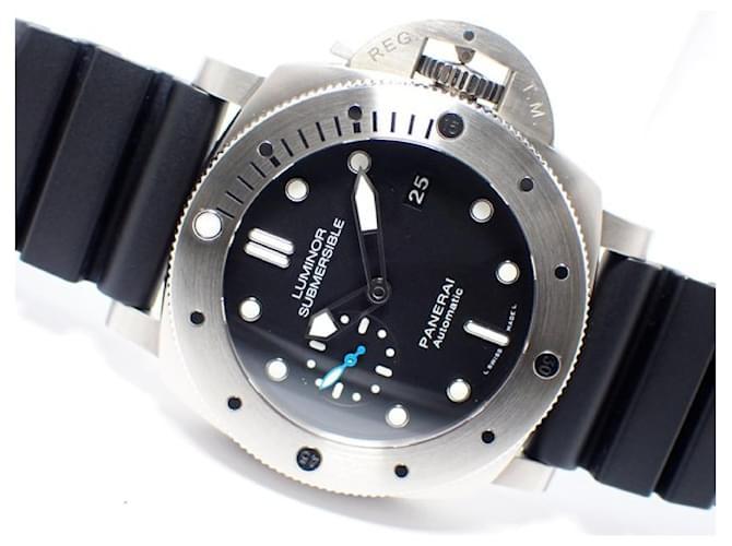 PANERAI Luminor1950 Submersible 3 DAY'S titanium PAM01305 Mens Blue  ref.352012