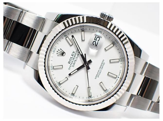 Rolex Datejust41 White Index Dial 126334 Genuine unused Mens Steel  ref.354411