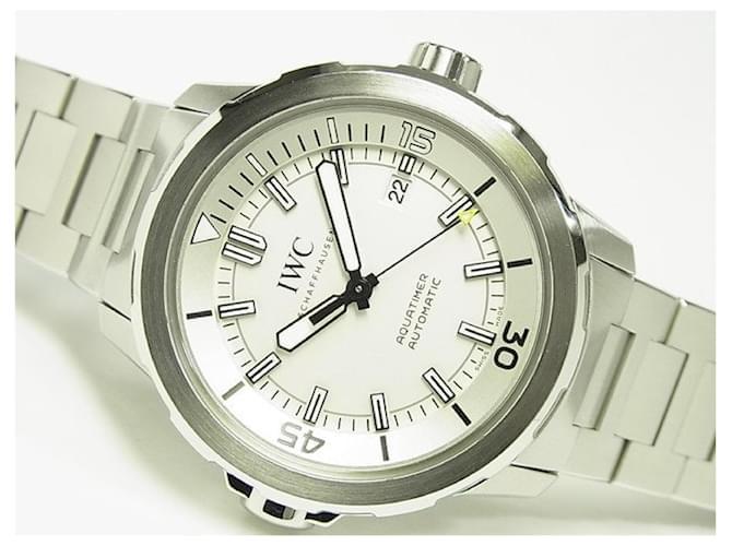 IWC Aquatimer Automatic silver Bracelet IW329004 Mens White Steel  ref.354968