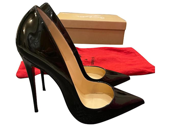 Christian Louboutin So Kate  12cm Black Patent leather  ref.355518