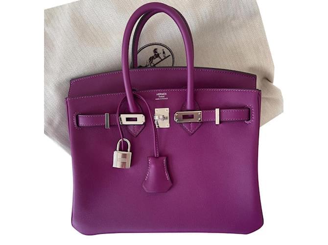 Hermès Birkin 25 Purple Leather  ref.356833