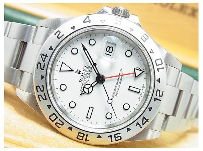 ROLEX EXPLORERII white Ref.16570 Y series Mens Steel  ref.356880