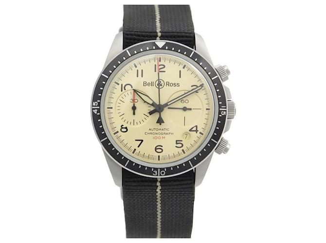 NEW BELL & ROSS BVR WATCH2-94 41 MM AUTOMATIC CHRONOGRAPH STEEL WATCH Silvery  ref.357820