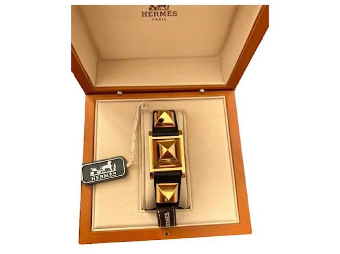 Hermès Medor GM White Gold-plated  ref.357948