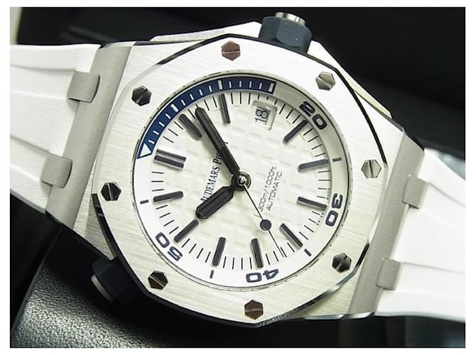 AUDEMARS PIGUET Royal Oak Offshore Diver white 15710ST Mens Blue Steel  ref.359214