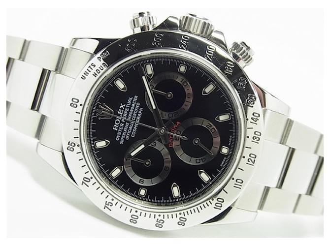 ROLEX Daytona SS black Ref.116520 random '14 receipt Mens Steel  ref.359218