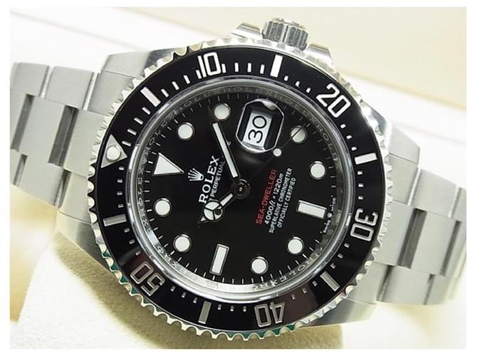 ROLEX Sea-Dweller Mens Black Steel  ref.359814