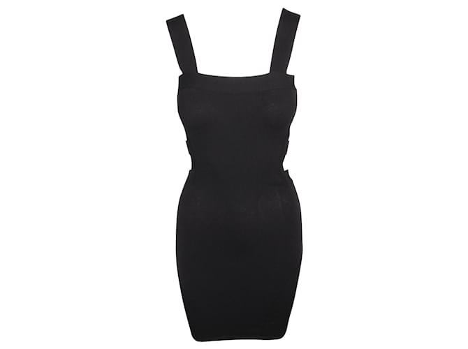 Alexander Mcqueen Black Open Dress  ref.360590