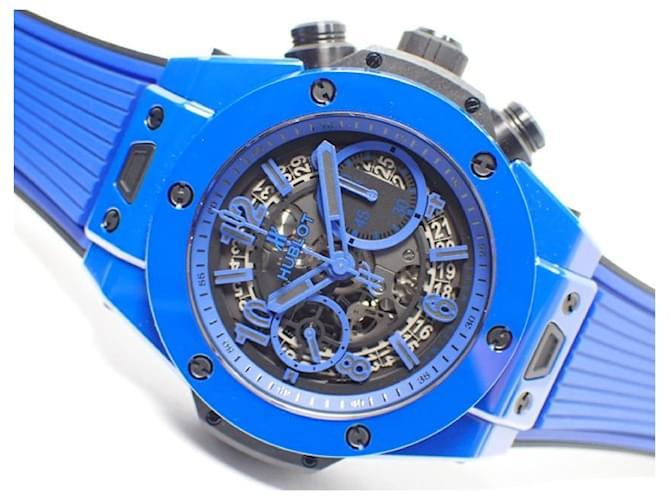HUBLOT Big Bang Unico blue Magic pen blue ceramic world Limited5 00 Genuine goods Mens  ref.364175
