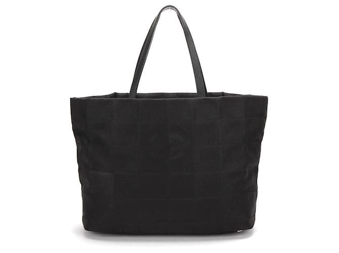 Chanel New Travel Ligne Tote Bag in black nylon  ref.365161