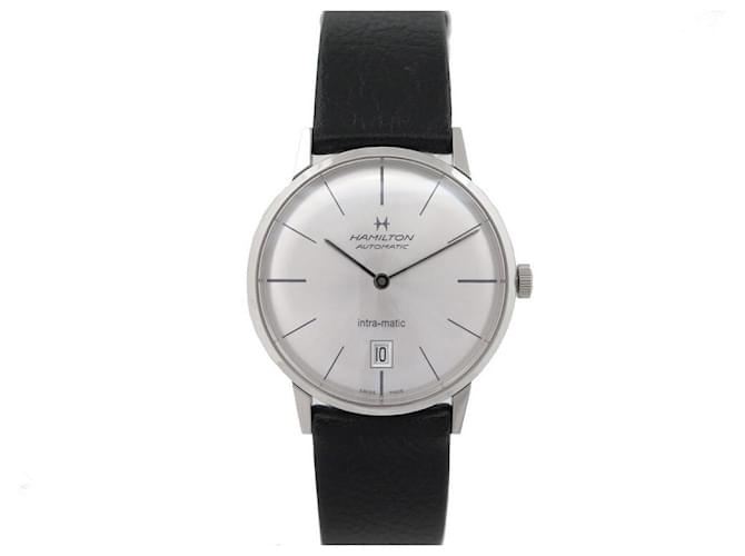 Autre Marque NEW HAMILTON H WATCH384550 INTRAMATIC 38MM AUTOMATIC STEEL BOX WATCH Silvery  ref.365258