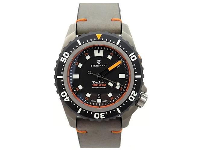 Autre Marque NEUR WATCH STEINHART TRITON 1000 TITANIUM 46MM AUTOMATIC + WATCH BOX Grey  ref.365261